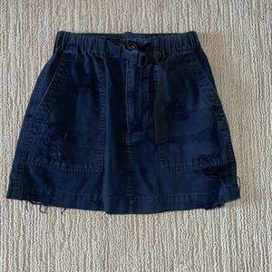 LF carmar buckle black mini skirt